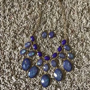 Purple & Gold Jewelry Set